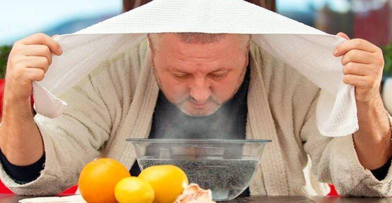 استنشاق بخار الماء بالليمون
